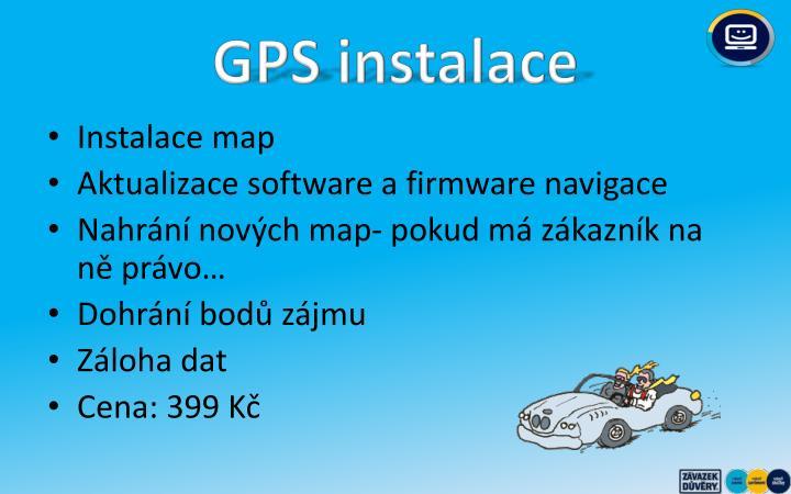 GPS instalace