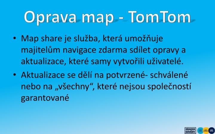 Oprava map - TomTom