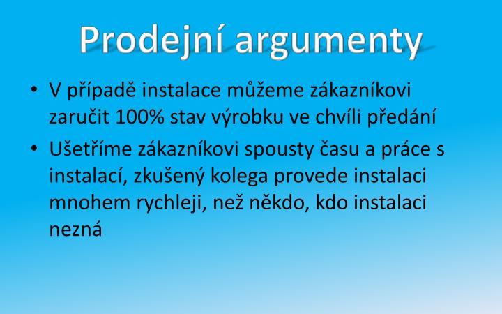 Prodejní argumenty