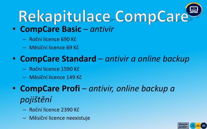 Rekapitulace CompCare