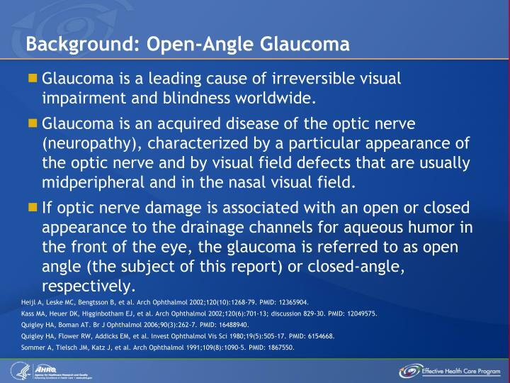Background: Open-Angle Glaucoma
