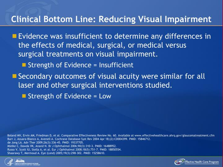 Clinical Bottom Line: Reducing Visual Impairment