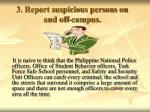 3 report suspicious persons on and off campus