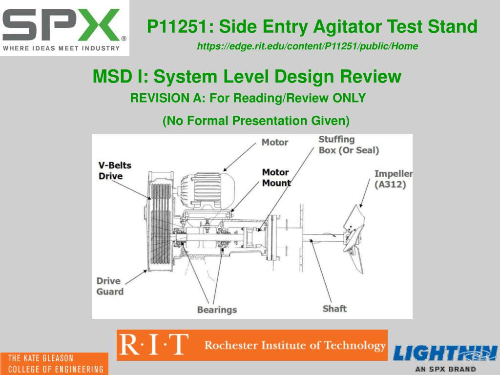 PPT - P11251: Side Entry Agitator Test Stand PowerPoint