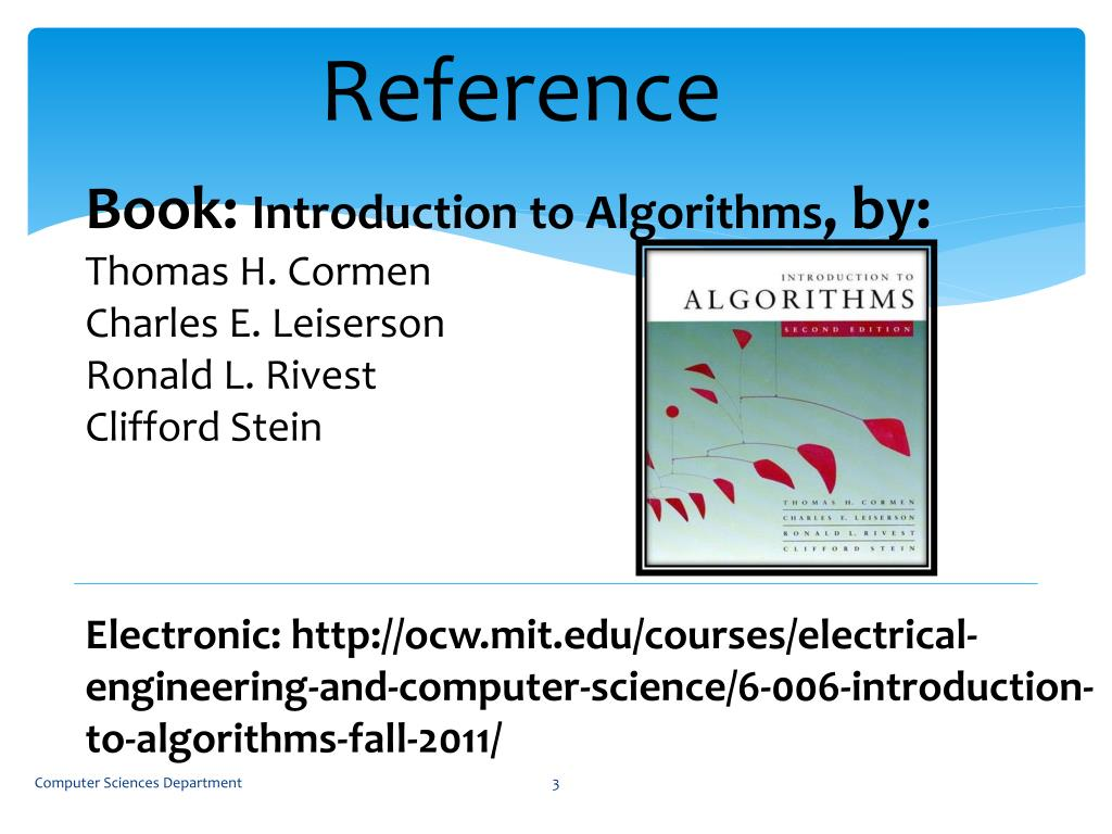 PPT - Book: Introduction to Algorithms , by: Thomas H  Cormen