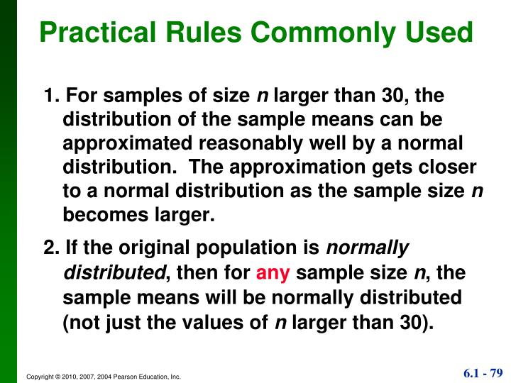 Practical Rules Commonly Used