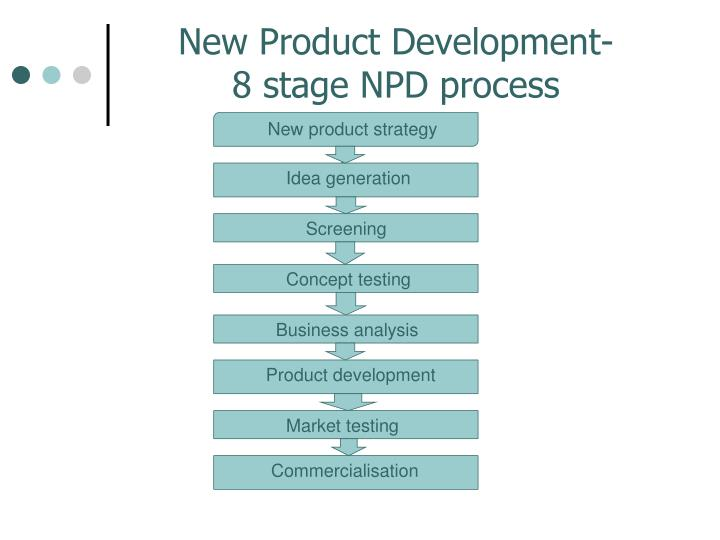 an overview of the commercialization stage in new product development process New product development (npd) is the complete process of bringing a new product to market a product is a set of benefits offered for exchange and can be tangible (that is, something physical you can touch) or intangible (like a service, experience, or belief.