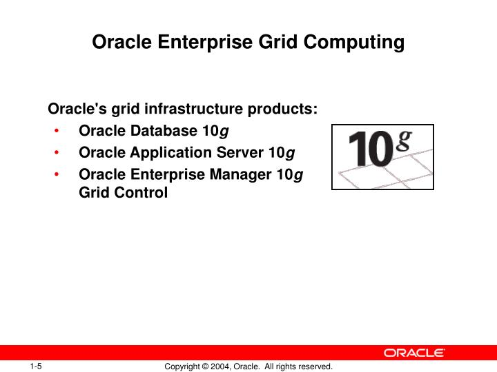 oracle 10g grid computing Oracle 10g vs 11g oracle databases are object-relational database management systems  primarily it provided grid computing by provision of cpus and data.