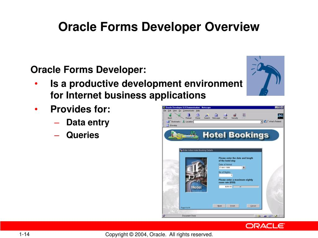 PPT - Introduction to Oracle Forms Developer and Oracle