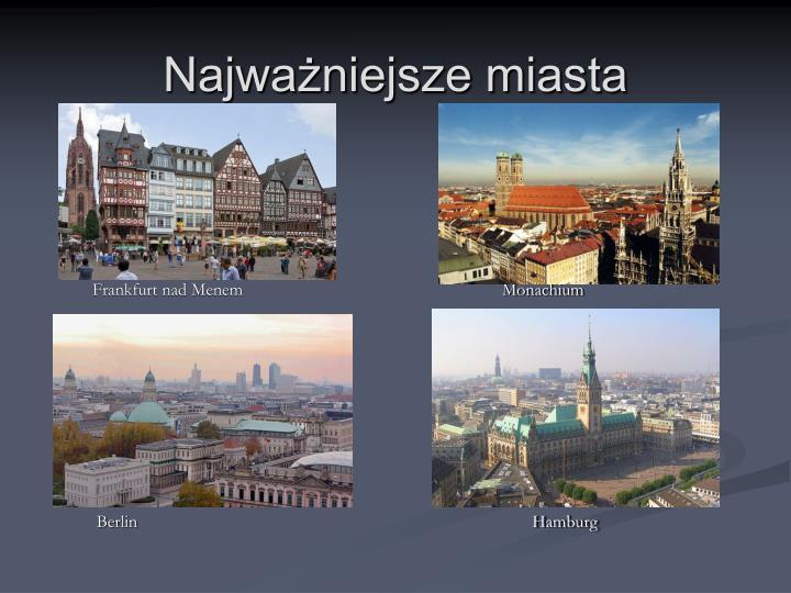 Najważniejsze miasta