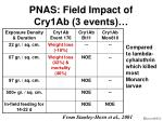 pnas field impact of cry1ab 3 events