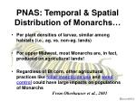 pnas temporal spatial distribution of monarchs