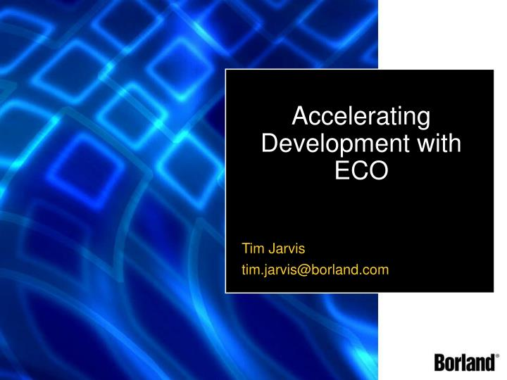 accelerating development with eco n.