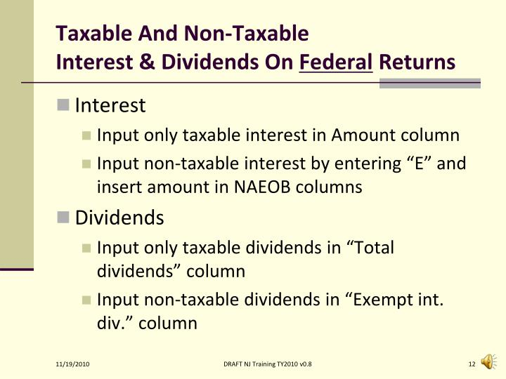 Taxable And Non-Taxable