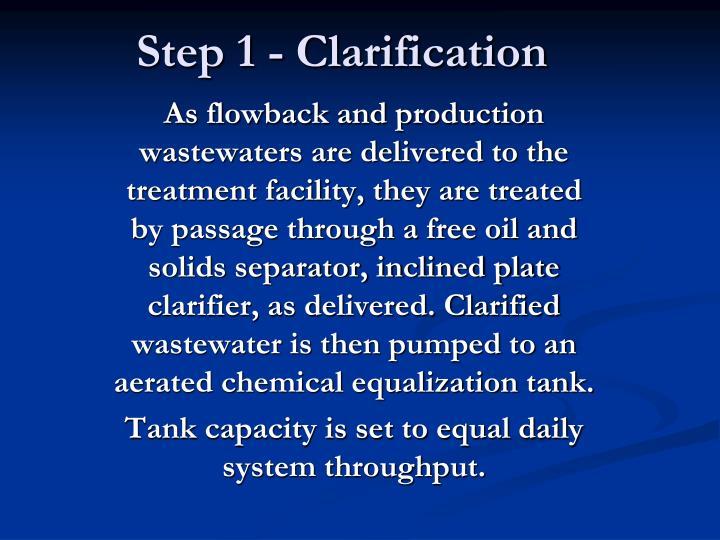 Step 1 - Clarification