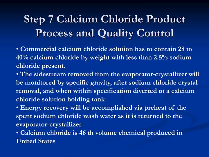 Step 7 Calcium Chloride Product Process and Quality Control