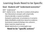 learning goals need to be specific1