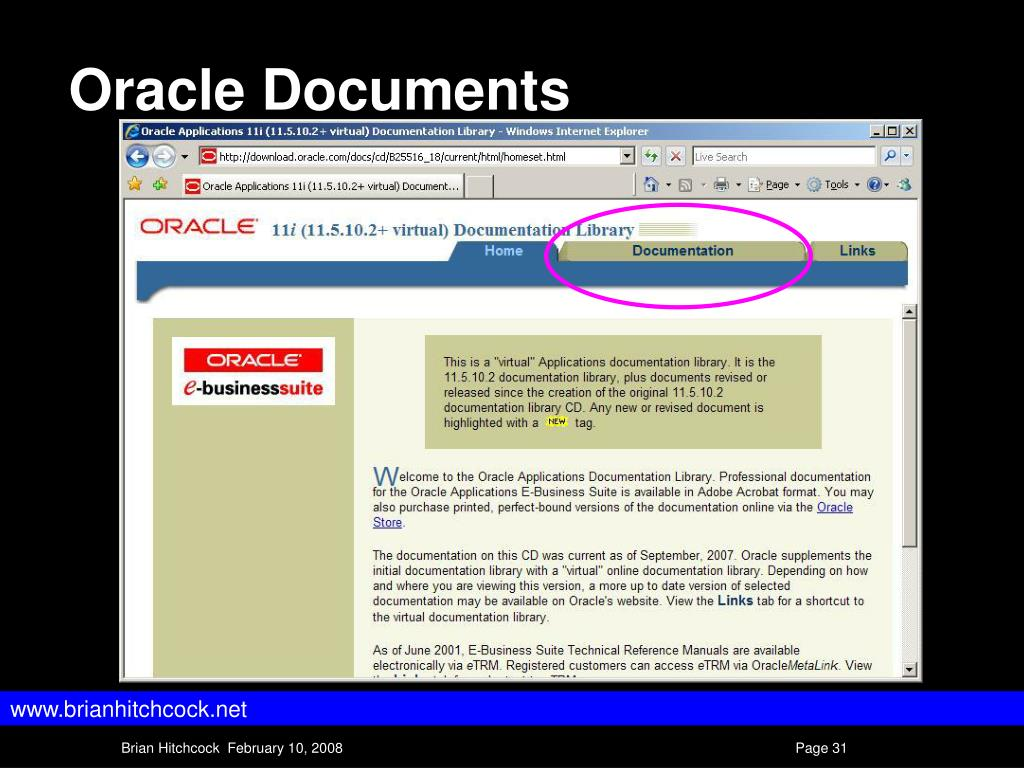 PPT - Oracle Applications 11i Concepts II PowerPoint