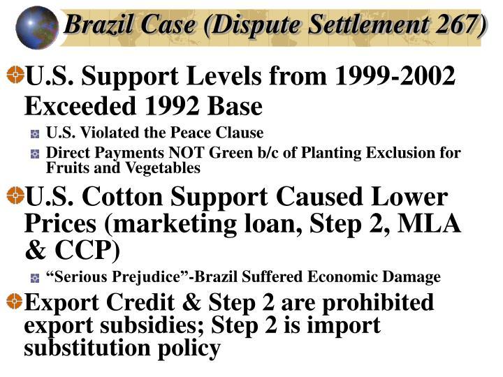 Brazil Case (Dispute Settlement 267)