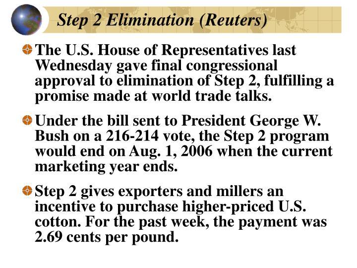 Step 2 Elimination (Reuters)