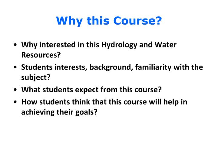 Why this course