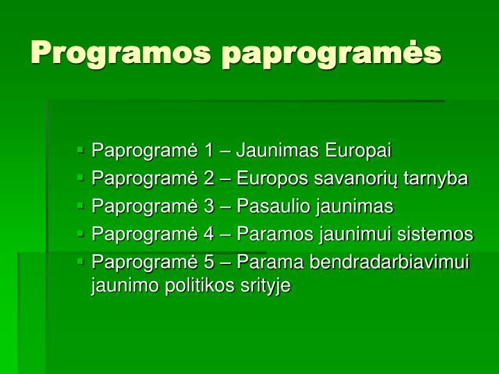 Programos paprogramės