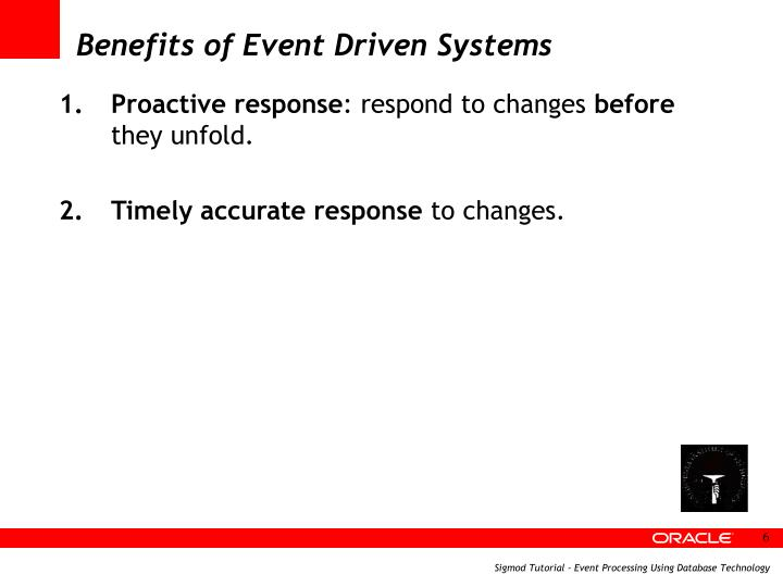 Benefits of Event Driven Systems