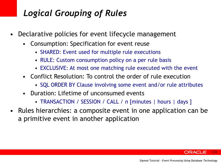 Logical Grouping of Rules