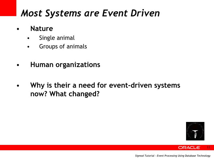 Most Systems are Event Driven