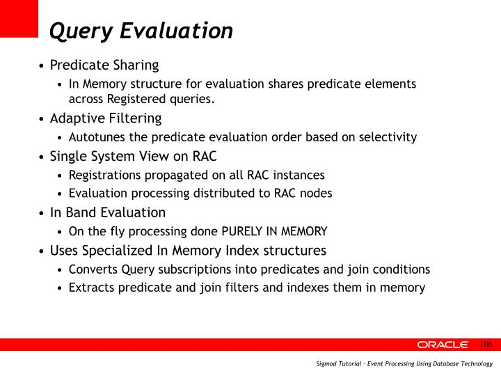 Query Evaluation