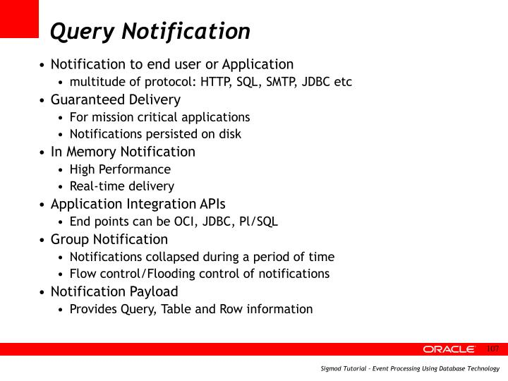 Query Notification