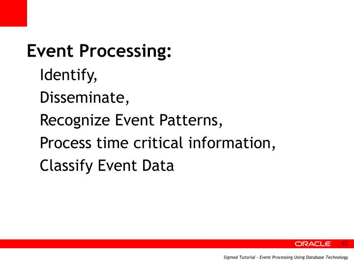 Event Processing: