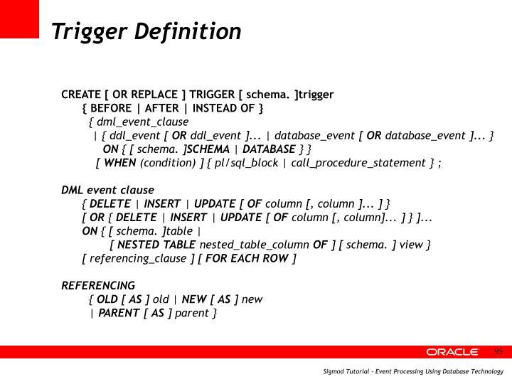 Trigger Definition
