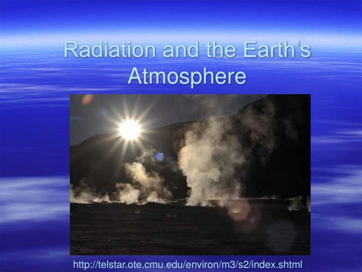 radiation and the earth s atmosphere n.