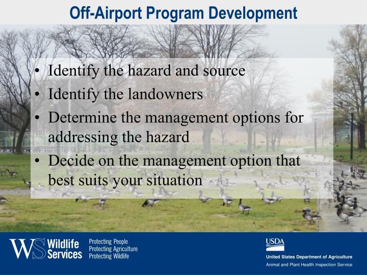 Off-Airport Program Development