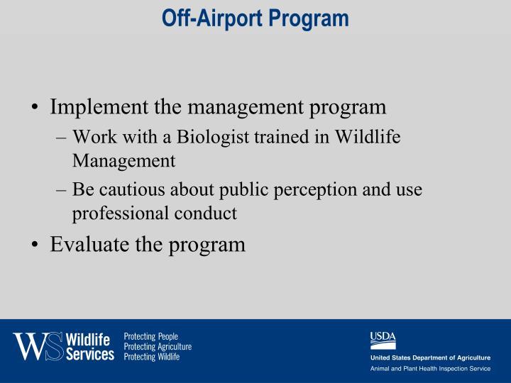 Off-Airport Program