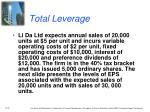 total leverage1
