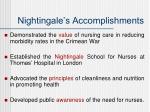 nightingale s accomplishments