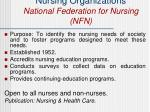 nursing organizations national federation for nursing nfn