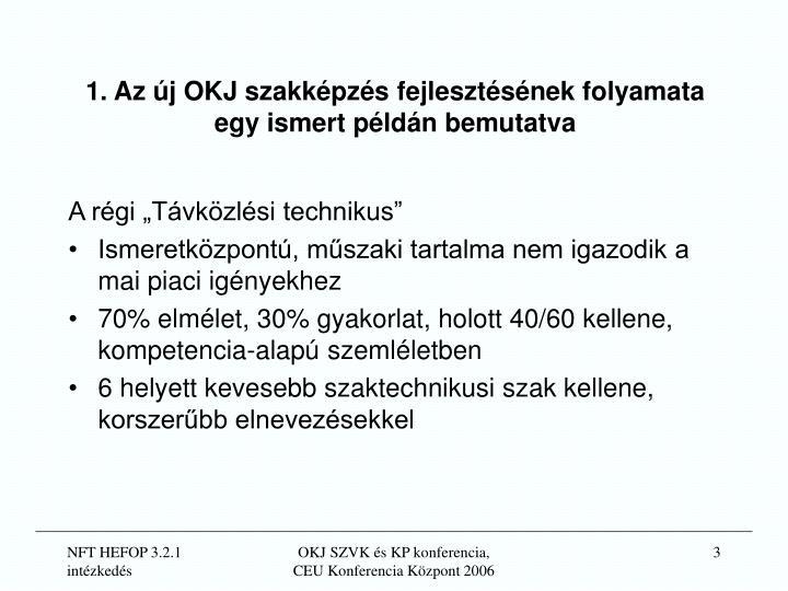 1. Az új OKJ szakképzés fejlesztésének folyamata