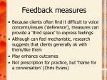 feedback measures