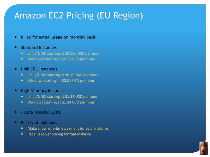 Amazon EC2 Pricing (EU Region)