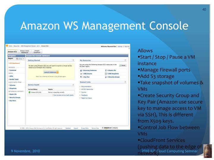 Amazon WS Management Console