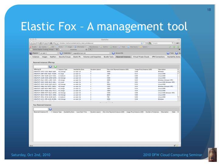 Elastic Fox – A management tool