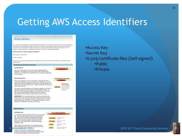 Getting AWS Access Identifiers