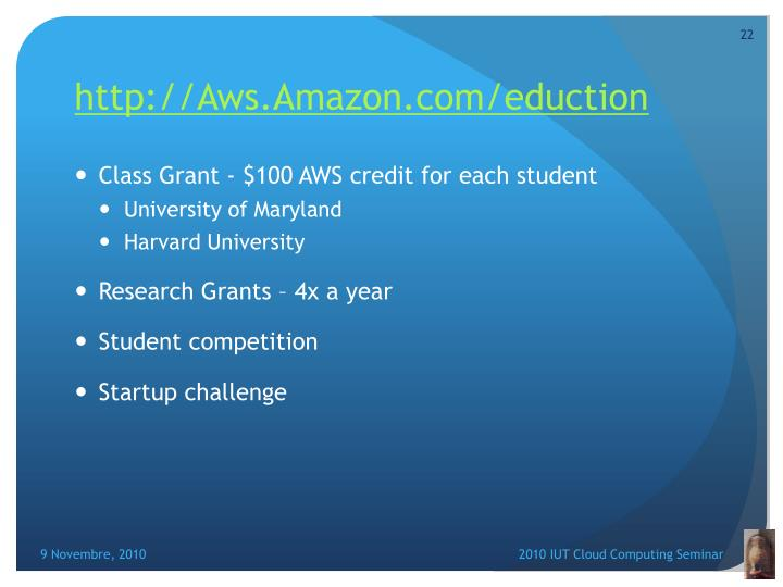 http://Aws.Amazon.com/eduction