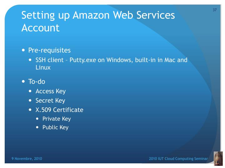 Setting up Amazon Web Services Account