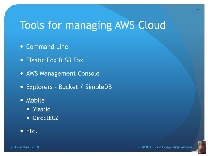 Tools for managing AWS Cloud