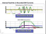 internal fault no 2 recorded diff currents