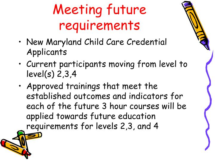 Meeting future requirements
